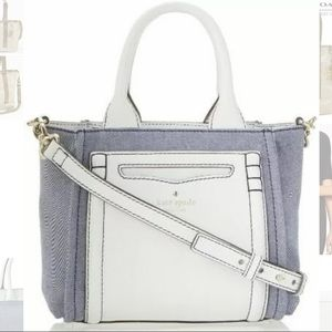 kate spade claremont drive smallmarcella bag denim